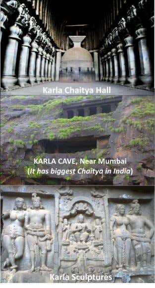 the Karla chaitya hall plan is observed at Kanheri Caves. The viharas are excavated in all