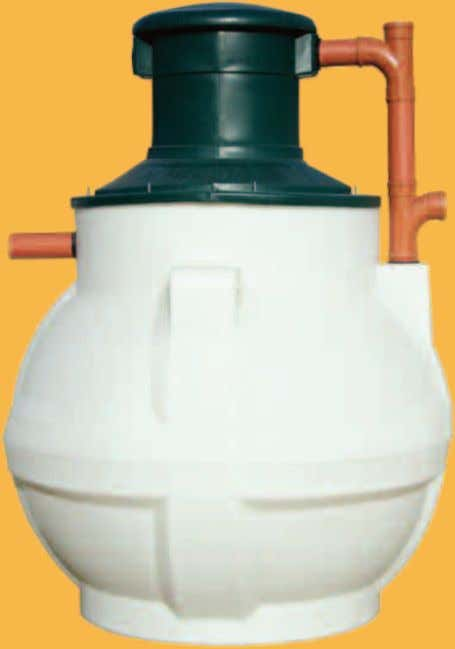 Septic tanks SEPTIC TANKS Key benefits ◗ Impact resistant body moulded in one-piece polyethylene ◗ Wide