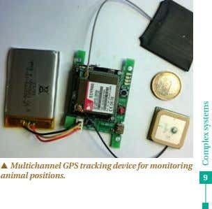p Multichannel GPS tracking device for monitoring animal positions. 9 Complex systems