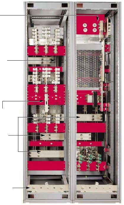 temperature of 104 °F (40 °C). Figure 10: Bus Compartment Neutral bus Vertical bus riser Neutral