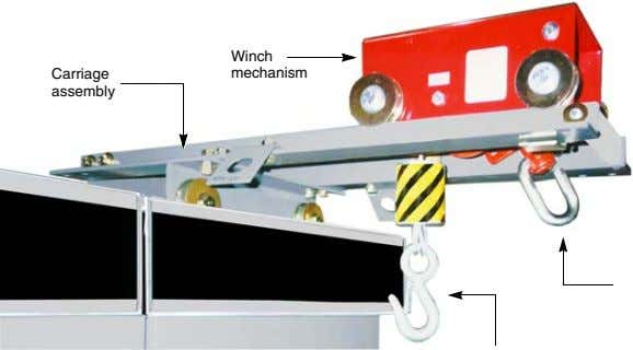 Winch Carriage mechanism assembly