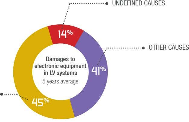 UNDEFINED CAUSES 14 % OTHER CAUSES Damages to electronic equipment in LV systems 5 years