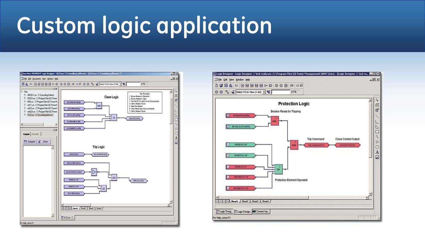 Custom logic application