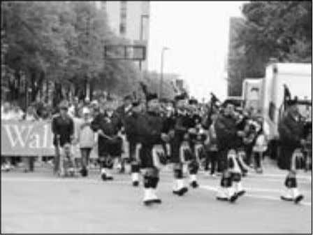 is available at www.ontheradio. net/metro/Madison_WI.aspx . Bagpipers in a Madison parade. Other News Outlets • Stay