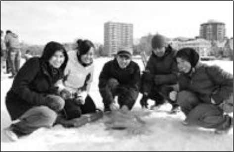 Partners • Thanksgiving Hospitality, which invites ISS ice-fishing event. international students to join a