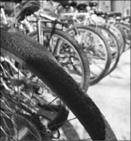 . Madison and Wisconsin laws recognize Bikes parked outside of Memorial Union. bicycles as vehicles
