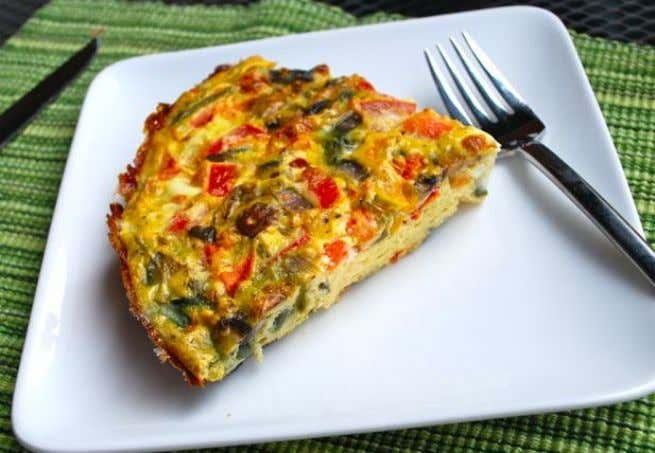 Vegetable Frittata Nutrition Facts Per Serving 217 calories 7 g total fat 3.5 g saturated fat