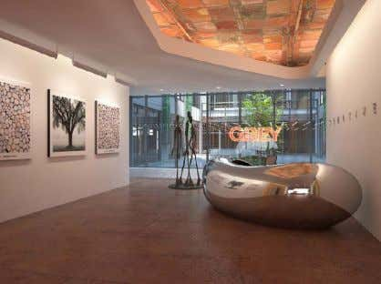 Garden, Courtyard & Dining Terrace, Corporate Office Interiors Grey Global Services Headquarters New York, New York