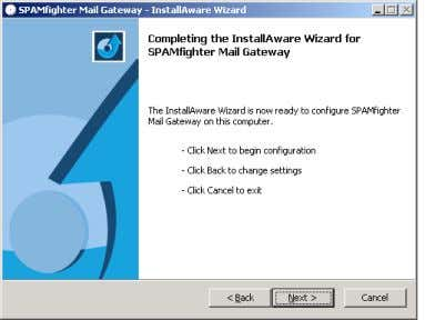 E-mail Routing SPAMfighter Mail Gateway needs to know where to route legitimate e-mails. Please enter