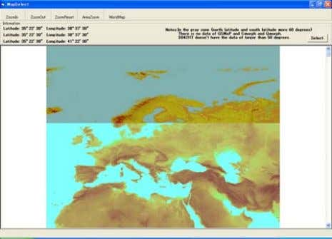 4.2.9 Display of images for selecting target area Africa North America Europe 37 Australia South America
