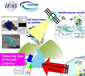 Satellite-based rainfall Rainfall observation by satellite Reducing loss of life and property