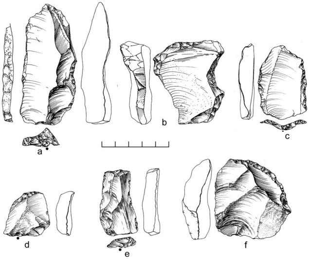 The Nubian Complex of Dhofar Figure 13. Retouched tools from Dhofar Nubian Complex sites. Sidescrapers from