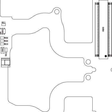 LAYOUT DIAGRAMS Figure 12.3: Display PCB Layout - Side A Issue 1 Section 12 PMCD030901C8 Revision