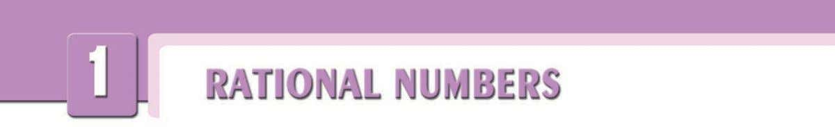 A. RATIONAL NUMBERS: THE SET Q 1. Understanding Rational Numbers Definition The ratio of an