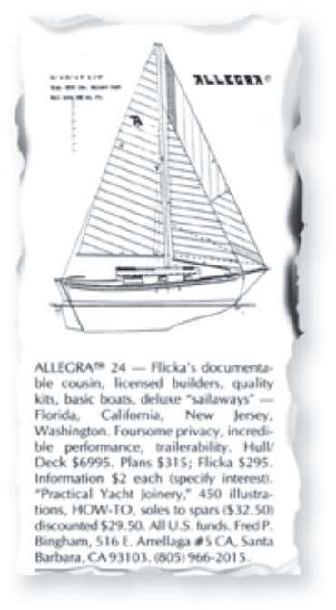 Feature boat Allegra 24 She's the most pampered and putzed-with boat in the marina by Karen