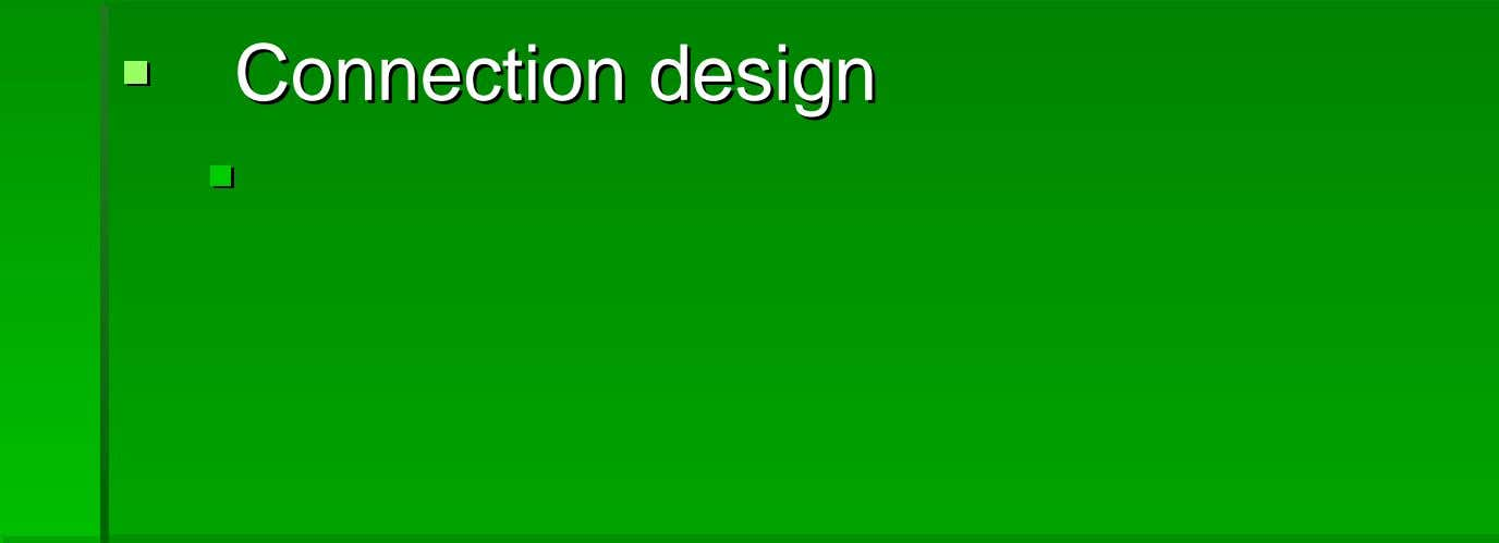 ConnectionConnection designdesign