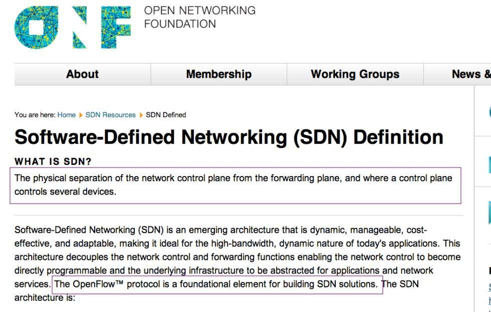 SDN Definition (by Open Networking Foundation) Neutron & SDN OpenStack BCN MeetUp - March 2014