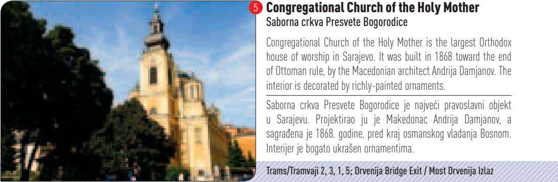 5 Congregational Church of the Holy Mother Saborna crkva Presvete Bogorodice Congregational Church of the
