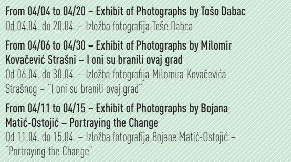 From 04/04 to 04/20 – Exhibit of Photographs by Tošo Dabac Od 04.04. do 20.04.
