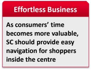 Effortless Business As consumers' time becomes more valuable, SC should provide easy navigation for shoppers