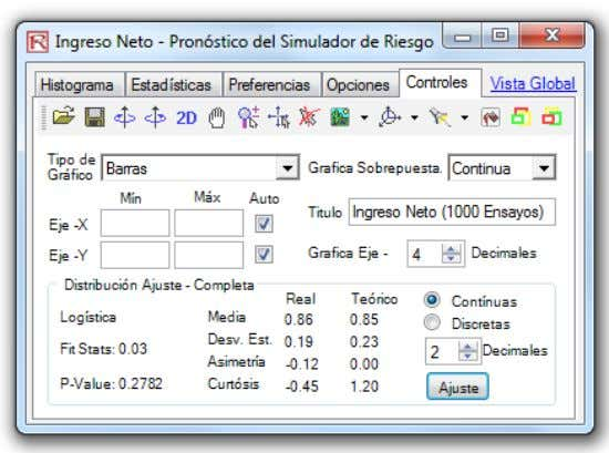 Manual de Usuario (Simulador de Riesgo) 28 © 2005-2012 Real Options Valuation, Inc.