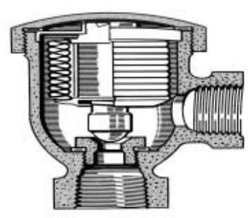 Figure 11: Balanced pressure air vent (source: ETSU) steam space will be fully occupied with