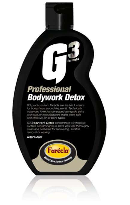 It can also be used as a general wash followed by Resin Superwax. G3 product guide_aw2.indd