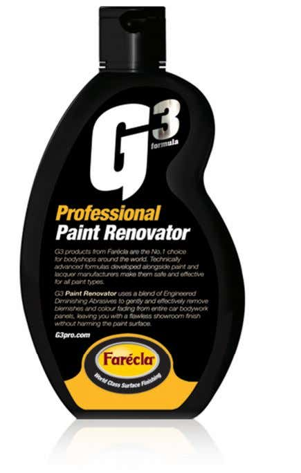 swirl and hologram marks. Apply in exactly the same way as Scratch Remover. G3 product guide_aw2.indd