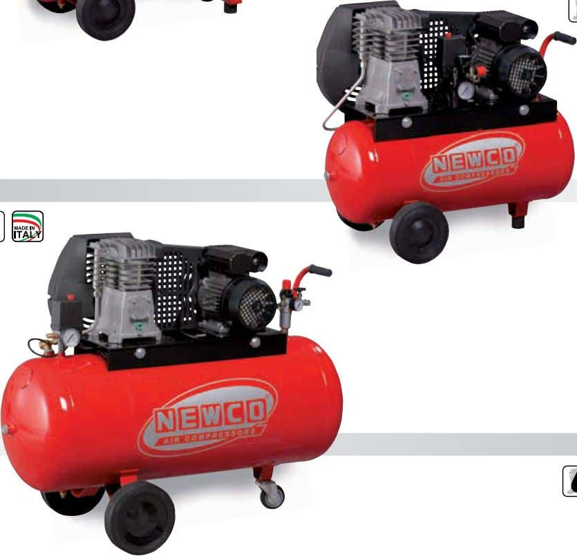 DRIVEN SINGLE STAGE TWIN CYLINDER COMPRESSORS 16 N2.8 25C 2M N2.8 50C 2M N2.8 100C 2M