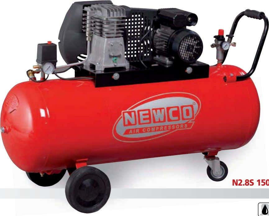 A CINGHIA BELT DRIVEN SINGLE STAGE TWIN CYLINDER COMPRESSORS N2.8S 150C 3M N2.8S 50C 3M 97242259
