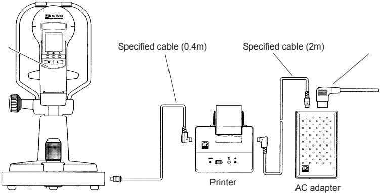 Specified cable (0.4m) Specified cable (2m) Printer AC adapter