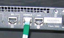 the Serial COM port on a PC that will act as the console. • Insure TeraTerm