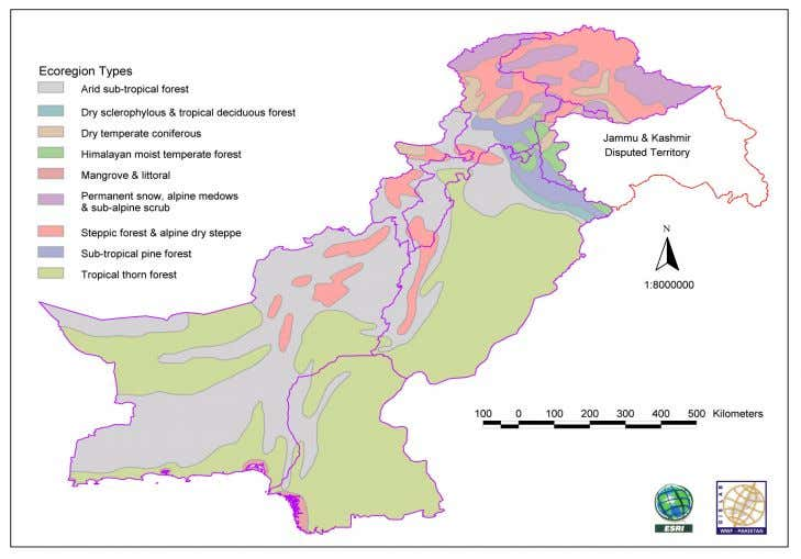 CHAPTER 1 INTRODUCTION Fig: 1.2. Ecological Zones in Pakistan The conservation of biodiversity revolves around different