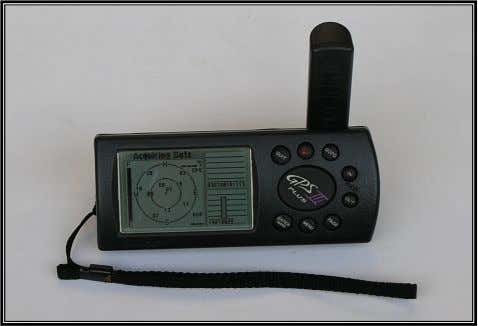 Positioning System (GPS III) handheld receiver (Fig 3.12). Fig. 3.12. GARMIN ® Global Positioning System (GPS
