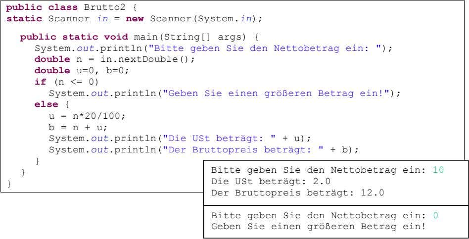 public class Brutto2 { static Scanner in = new Scanner(System. in ); public static void