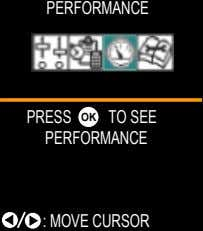 PERFORMANCE PRESS OK TO SEE PERFORMANCE : MOVE CURSOR