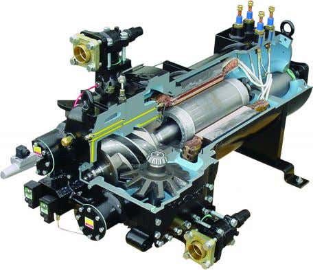 available (as option) in order to have lower inrush current. Evaporator Flooded shell-and-tube evaporator operating with