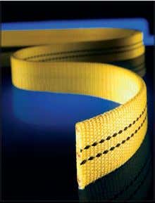 slings meet or exceed OSHA and ASME B30.9 require- ments. Dura-Web 1000 Capacity One Black Stripe