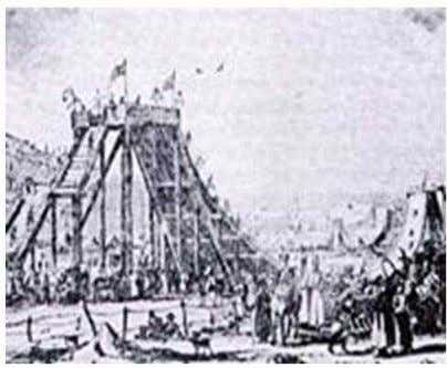 Figure 1.1 Various enhancements were made on roller coasters and by the year 1817. The