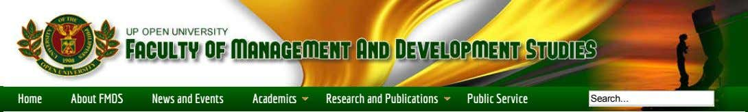 Home About FMDS News and Events Academi Research and Publications Public Service Search
