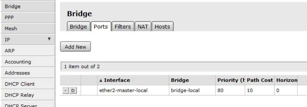 of ports (thus being a member of the bridge-local bridge. Add a RADIUS server Mikrotik allows