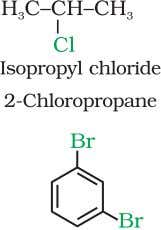 but in IUPAC system, the numerals 1,2; 1,3 and 1,4 are used. The dihaloalkanes having the