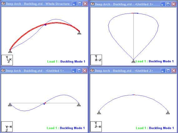 Example 3 - Buckling Analysis - Modes • Buckling Factors – 7.002 – 16.302 – 24.925