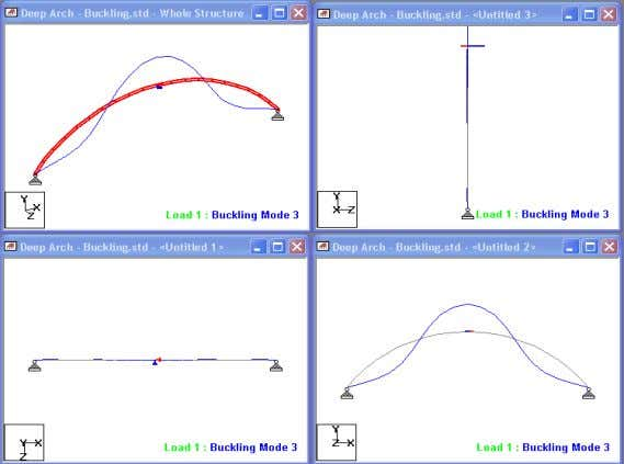 Buckling Analysis - Modes • Buckling Factors – 7.002 – 16.302 – 24.925 (*) – 40.018