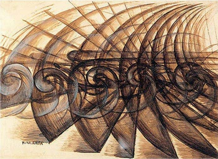 travel time be seen as having a value and can be used productively Giacomo Balla 1913