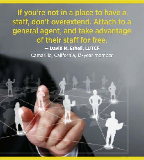 If you're not in a place to have a staff, don't overextend. Attach to a