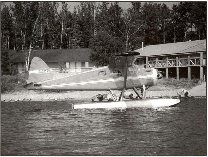 Vintage Seaplanes by Norm Petersen DeHaviliand DHC-2 Beaver on Edo Floats has th e hangar next