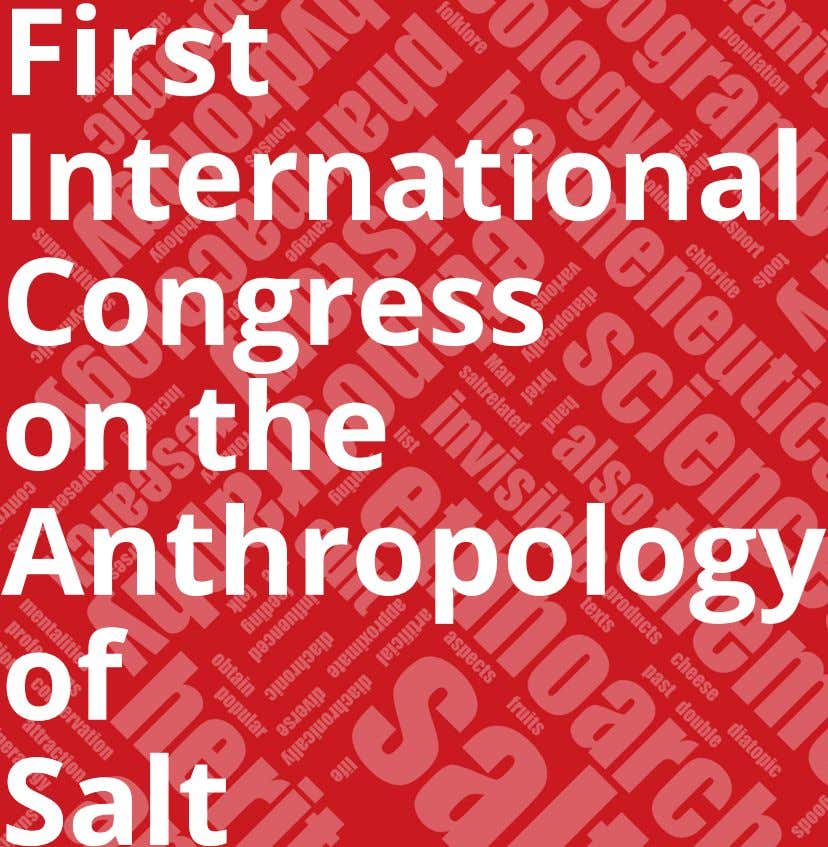 First International Congress on the Anthropology of SSaalltt