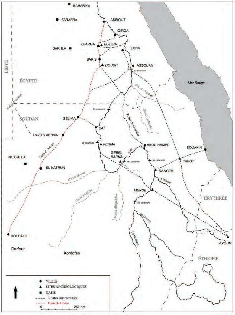 BOOK OF ABSTRACTS Figure 1. The network of the tracks in the western and eastern desert
