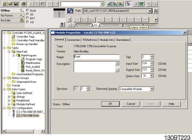 Give the Scanner a name, for example Dnet and click on OK. MN.33.B1.02 - VLT is